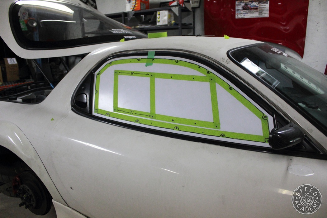Lexan-windows-DIY-FD-RX7-018 & Project Rotary Race Mule: DIY Lexan Windows | Speed Academy